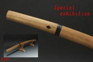Japanese Antique Shirosaya wakizashi Koshirae sword samurai tsuba katana yoroi
