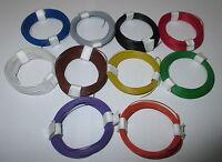 0,1695€/m)Decoderlitze  extra dünn 0,04 mm²  10 Ringe a 10m  NEU