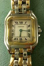 Cartier Tank Panthere 18k & SS 3xRow Yellow Gold band REF:1120 LOWEST ON EBAY