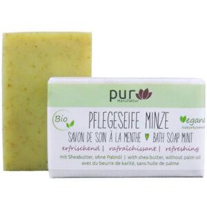 Pflegeseife Minze 100 g Bio Natur-Olivenölseife pur Manufaktur