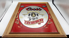 Adolph Coors Golden Colorado Bar Sign Advertisement Beer Ad in Wood Frame 20x14