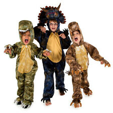 KIDS CHILDRENS CHILD BOYS DELUXE DINOSAUR ZIP UP FANCY DRESS HALLOWEEN COSTUME