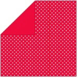 Red/Mini Dots Reversible Wrapping Paper Roll