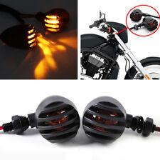 4Pcs Motorcycle Amber Turn Signal Indicator Light Lamp Heavy Duty Aluminum 12V
