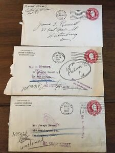 George Washington Embossed 2 Cent Pre-Stamped Envelope - 1930 x3