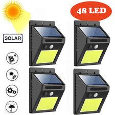4X 48 LED Solar Power PIR Motion Sensor Wall Light Outdoor Garden Security