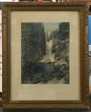Antique Framed Hand-Tinted Colorized Photo ~ THE DRAGON signed DAVID DAVIDSON