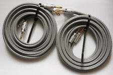 LINN K20 NEW 3 M SPEAKER  CABLES WITH NEW NAKAMICHI BANANA PLUGS...