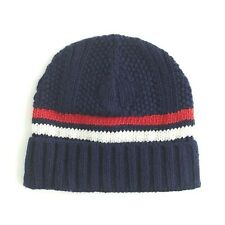 J.Crew Striped Beanie | Authentic Navy / Warm Poppy | $34.50