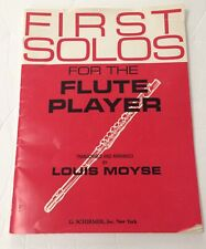 First Solos for the Flute Player By Louis Moyse