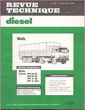 ▬►REVUE TECHNIQUE RTD de 1980 CAMIONS UNIC 190 NC  NT  26 et 26 T et 190 U