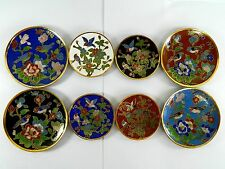 "Vintage 3"" & 4"" Cloisonne Copper Enamel Dish Plate Tray,Decoration or Actual Use"