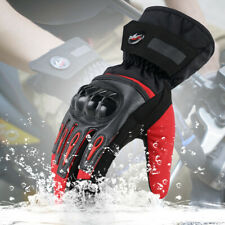 Winter Leather Motorcycle Motorbike Waterproof Gloves Touch Screen Full Finger