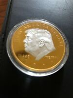 New 2020 Silver & Gold Plated Donald Trump Coin
