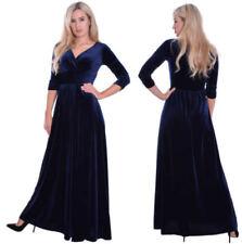 Unifarbene Empire 3/4 Arm Damenkleider