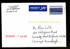 Netherlands 2007 Airmail Cover To UK #C1359