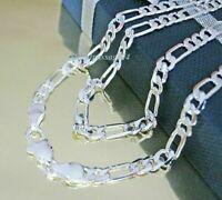 FIGAROKETTE 45-75 cm Halskette 4-8 mm Silberkette Kette Panzerkette Herren Damen