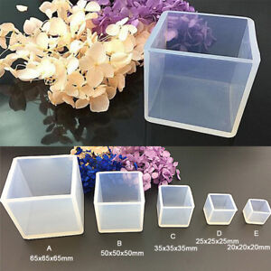 DIY Silicone Pendant Mold Jewelry Making Cube Resin Casting Mould Craft Too^j yt