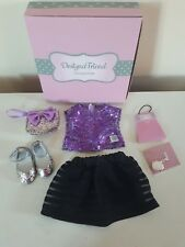 """design a friend / designafriend 18"""" doll party sparkle outfit , new in box/charm"""