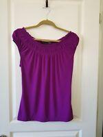 The Limited Woman's Purple Ruffled Short Sleeve Size MEDIUM