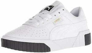 PUMA Women's Cali Fashion Sneakers, White/Black, Size 7.0 P44n