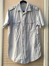 MENS DIESEL PALE BLUE EMBROIDERED SHIRT SIZE XL