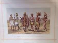 Ethiopian Race 1882 Antique print, original
