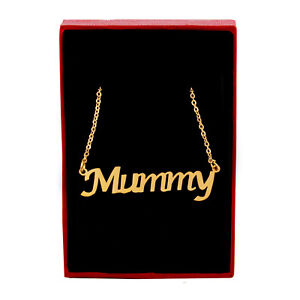 MUMMY Name Necklace Stainless Steel / 18ct Gold Plated | Mother Mum Appreciation