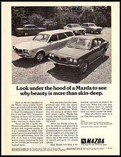 1972 Mazda RX-3 Wagon Sedan Coupe Rotary Engine Vintage Print Ad