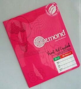 Ormond Tinted Paper Exercise Books x3 Ideal For Dyslexia SEN Lined - Pink