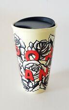 Starbucks 2017 Portland Rose Ceramic Double Wall Travel Mug Tumbler 12 Oz