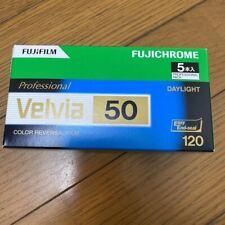 FUJIFILM VELVIA 50 120 Color Roll Film 5 Rolls 120 VELVIA50 EP NP 12EX 5
