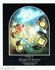 PUBLICITE ADVERTISING 116  1978  Younger & Bresson montres ligne Disco