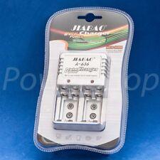 Cargador de pared Pilas AA AAA recargables 4 pila bateria NiMh NiCd universal 6