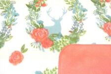 Deer Roses Floral Baby Blanket Toddler Can Personalize Double Sided 28x44