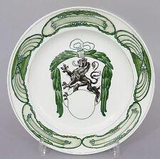 (MT137) Meissen Teller, Löwe über Wappenschild, D=23,7cm, 1.Wahl, um 1900