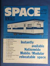 Vintage Space Modular Mobile Offices Catalogue Brochure Sales Rentals