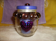 LILAC YANKEE CANDLE & PURPLE GLASS GEM CANDLE HOLDER-JEWELRY-COTTON BALLS/PAD#4