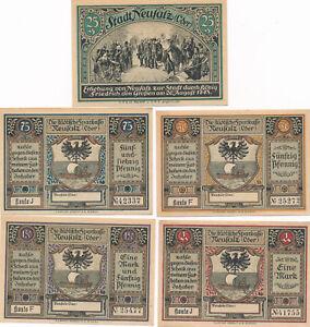 Notgeldscheine der Stadt Neusalz um 1920