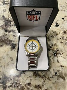 New Pittsburgh Steelers Mens Watch Gametime With Stainless Steel Band NIB