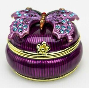 Butterfly Trinket box  hand made by Keren Kopal & Austrian crystals Faberge