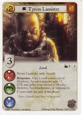 3 x Tyrion Lannister AGoT LCG 1.0 Game of Thrones City of Secrets 5