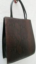 -AUTHENTIQUE très rare  sac à main LONGCHAMP cuir reptile TBEG vintage  BAG