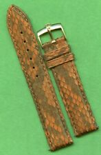 Rolex Gold Buckle & 19mm Brown Genuine Snake Skin MB Strap Band Leather Lined