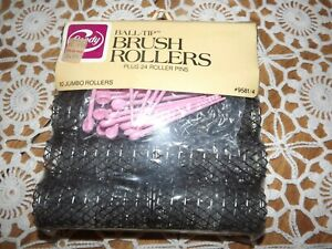 Goody Ball-Tip Brush Rollers Jumbo Rollers (10) #9581/4 NEW with Pink Pins