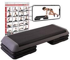 Steppbrett PROFI XXL inkl. Workout Fitness Aerobic Stepbench 110 x 42 cm