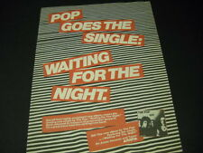 The Pop are Waiting For The Night 1979 Promo Poster Ad mint condition