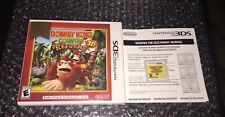 NINTENDO 3DS DONKEY KONG COUNTRY RETURNS 3D W Manual Tested Cib