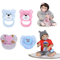4Pcs New Dummy Pacifier For Reborn Baby Dolls With Internal Magnetic Inside H