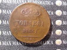 REGNO DELLE DUE SICILIE FRANCESCO I 10 TORNESI RAME 1825 COD. NAPOLISICILIA-80